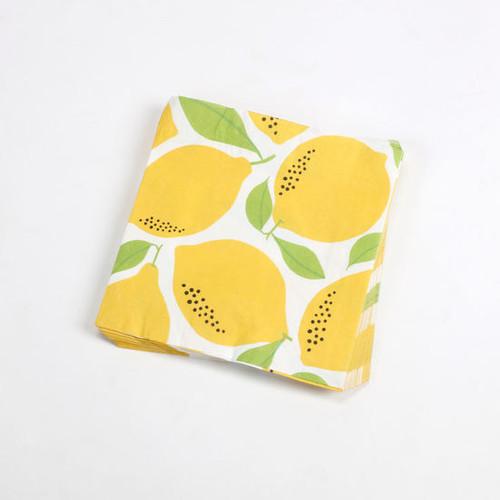 """Lemon Dinner Paper 7.8"""" Napkins by One Hundred 80 Degrees"""