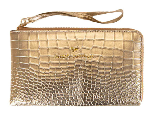 Gold Leather Wristlet by Simply Southern