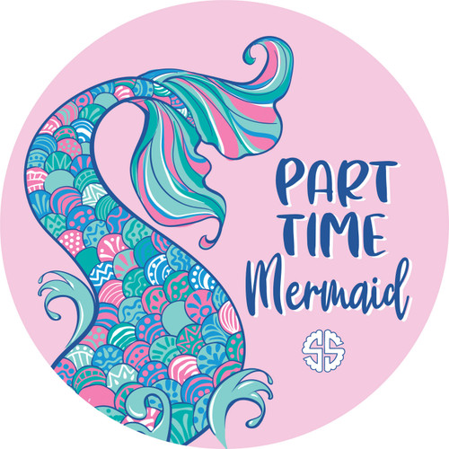 Mermaid Car Coasters by Simply Southern