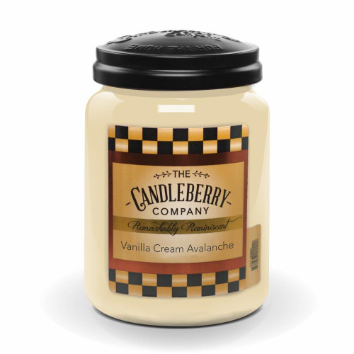 Vanilla Cream Avalanche 26 oz. Large Jar Candleberry Candle