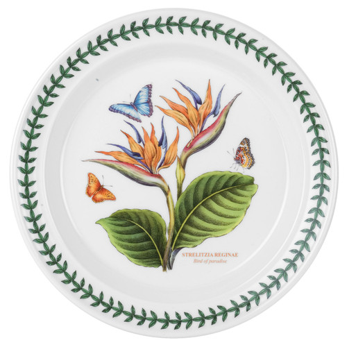 Exotic Botanic Garden Bird of Paradise Motif Set of 6 Dinner Plates by Portmeirion - Special Order