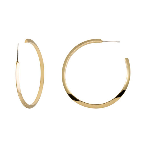 """Stella Valle Triangle 2"""" Gold Earrings"""