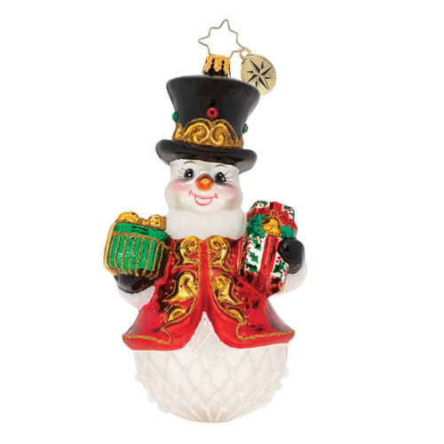 Royal Gift Giving Snowman! Ornament by Christopher Radko
