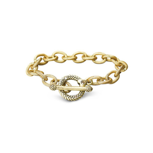 """Jay Strongwater Rhodes Toggle 7.5"""" Bracelet"""