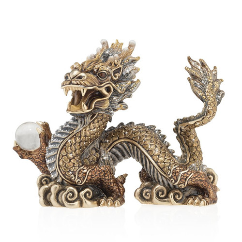 Jay Strongwater Apalala Imperial Dragon Figurine - Special Order