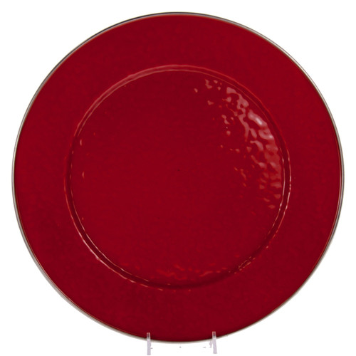 Set of 2 - Solid Red Charger by Golden Rabbit - Special Order