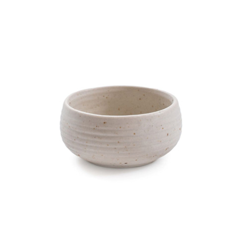 """3.5"""" Ribbed Ceramic Speckled Dip Bowl by Sugarboo Designs - Special Order"""