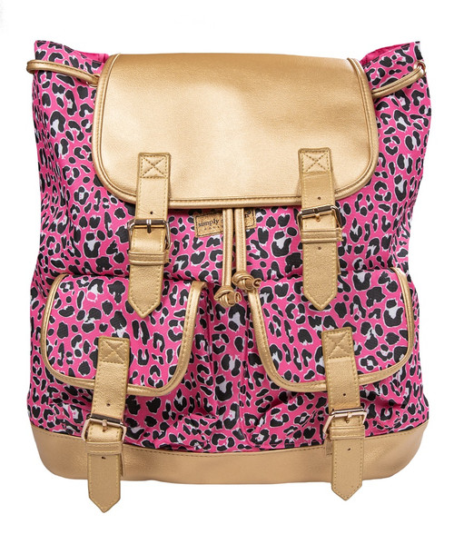 Leopard Pink Bookbag by Simply Southern