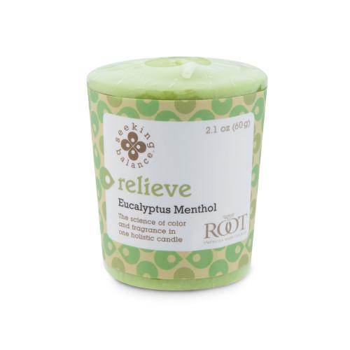 Relieve (Eucalyptus Menthol) Seeking Balance 20 Hour Votive by Root
