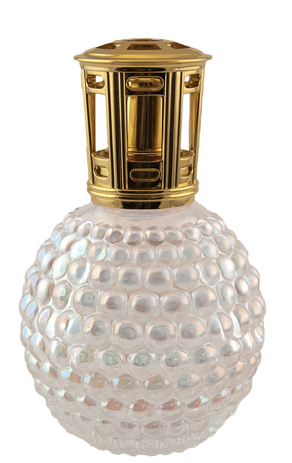 Clear Iridescent Hobnail Scentier Fragrance Lamp