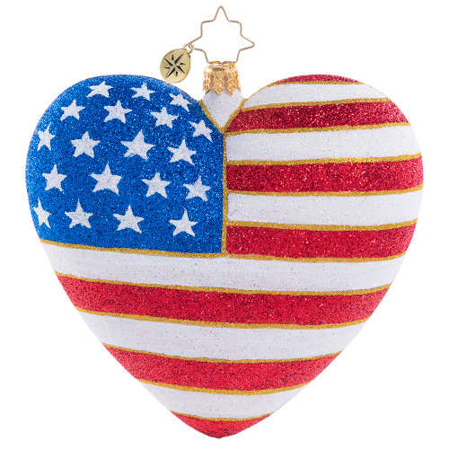 Heart Of America Ornament by Christopher Radko