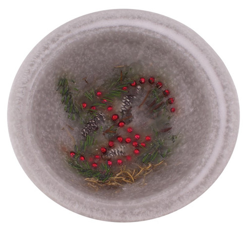 """Yule Log 7"""" Wax Pottery Vesselby Habersham Candle Co."""