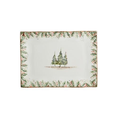 Natale Medium Rectangular Tray - Arte Italica