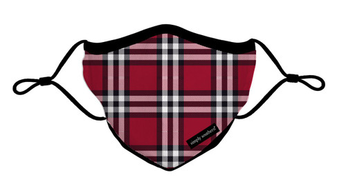 Plaid Adult Mask by Simply Southern