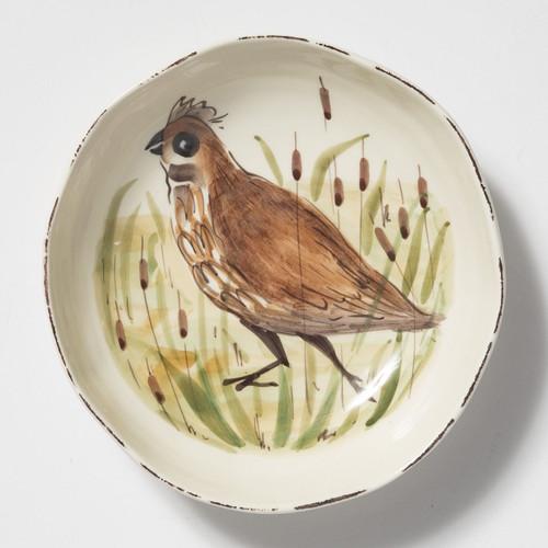 Vietri Wildlife Quail Pasta Bowl - Special Order