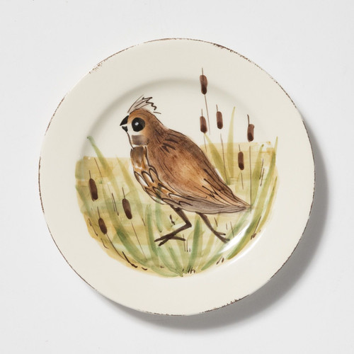 Vietri Wildlife Quail Salad Plate - Special Order