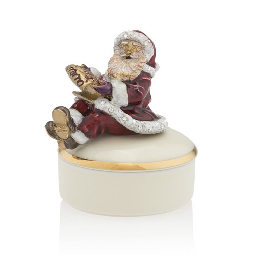 Jay Strongwater Santa on Porcelain Box - Special Order