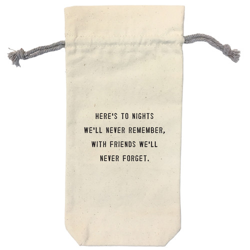 Here's To The Nights Wine Bag by Sugarboo Designs