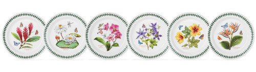 Exotic Botanic Garden Set of 6 Salad Plates (Assorted Motifs) by Portmeirion - Special Order