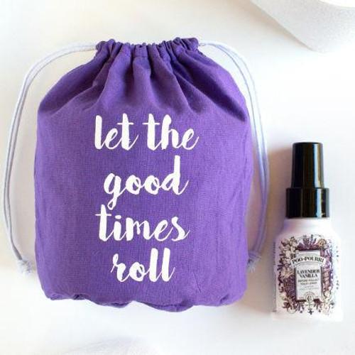 Toilet Paper Gift Set with 1.4 oz. Lavender Vanilla Poo-Pourri Bathroom Spray