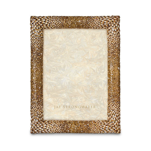 """Jay Strongwater Reed Feather 5"""" x 7"""" Frame - Special Order"""