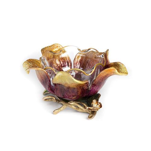 Jay Strongwater Ellie Flower Bowl - Special Order