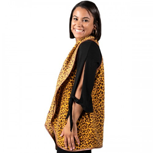 Large Leopard Vest by Simply Southern