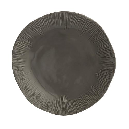 Graffiata Grey Dinner Plate - Arte Italica - Special Order