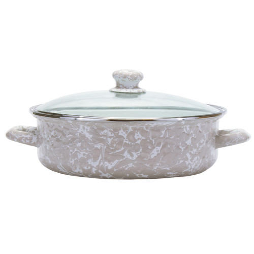 Taupe Small Saute Pan by Golden Rabbit - Special Order
