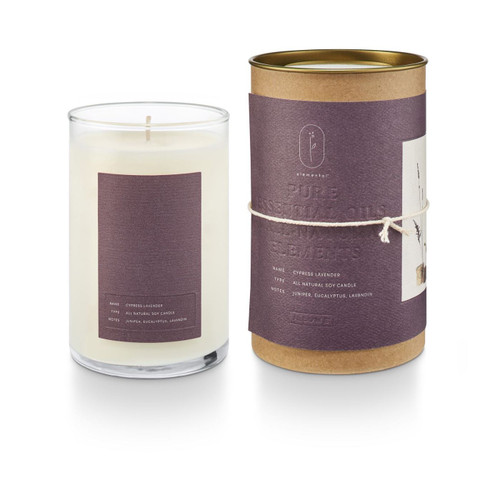 Cypress Lavender Elemental Natural Glass Illume Candle