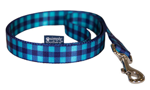 Plaid Blue Leash by Simply Southern