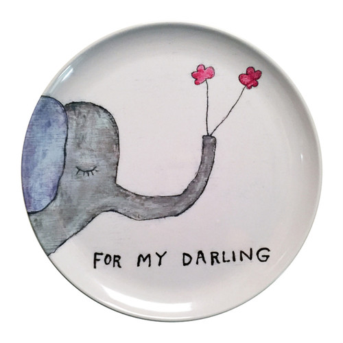 """10"""" For My Darling Melamine Plates (Set of 4) by Sugarboo Designs - Special Order"""