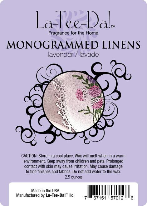 Monogrammed Linens Magic Melt by La Tee Da