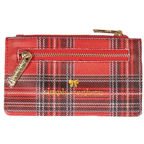 Tartan Leather ID Wallet by Simply Southern