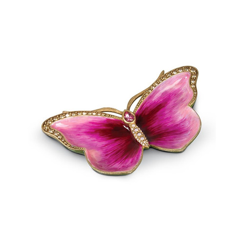 Jay Strongwater Juliet Butterfly Trinket Tray - Pink - Special Order