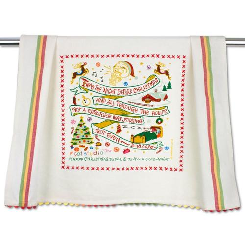 Night Before Christmas Dish Towel by Catstudio