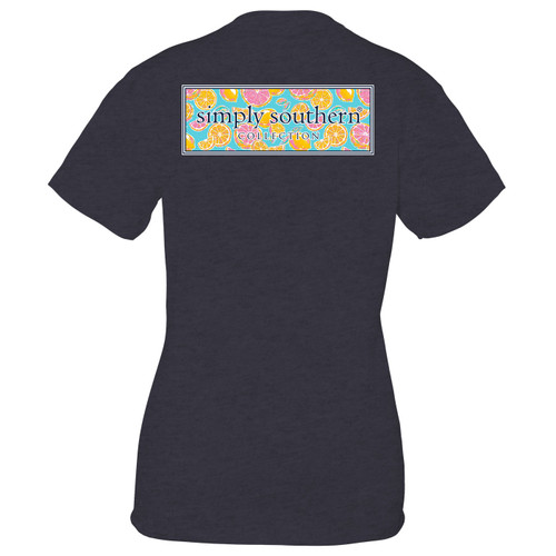 Small Zest Heather Navy Short Sleeve Tee by Simply Southern