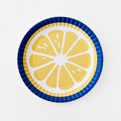 """Large Lemon Melamine 16"""" Platter by One Hundred 80 Degrees"""