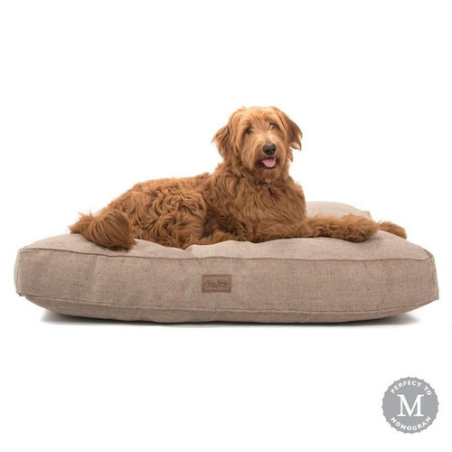 Large Brown Tweed Rectangle Dog Bed Cover by Harry Barker - Special Order
