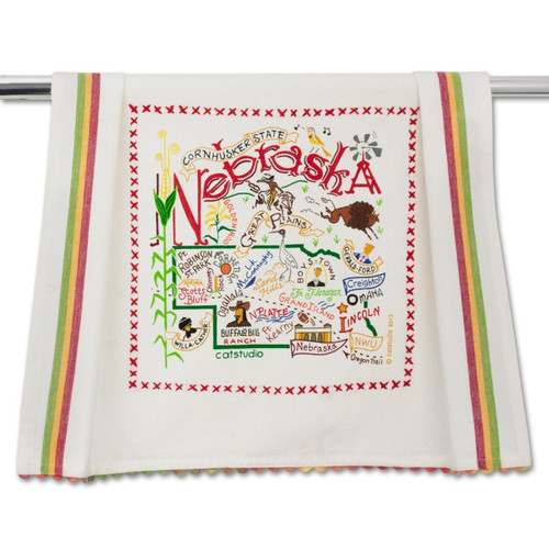 Nebraska Dish Towel by Catstudio