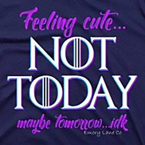 Large Feeling Cute, Not Today Tee by Emory Lane