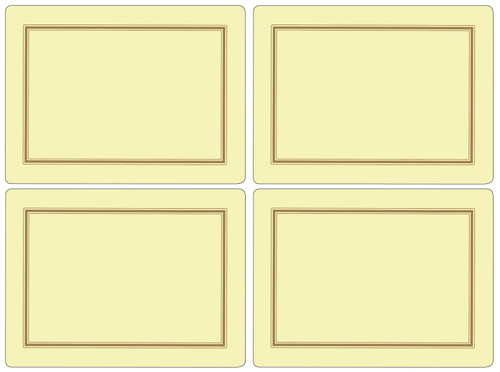 Set of 4 Classic Cream Placemats by Pimpernel - Special Order