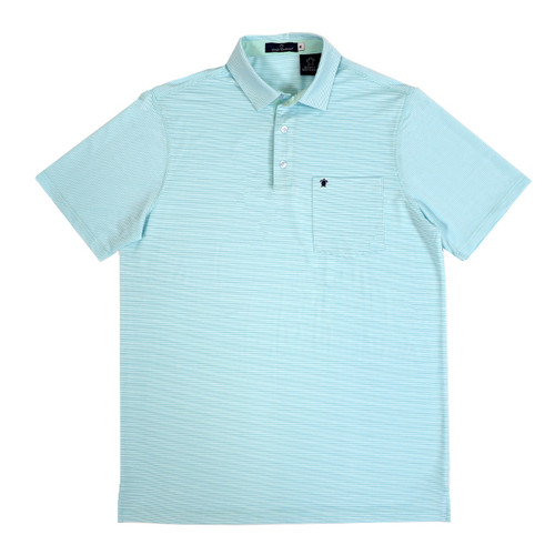 Small Pool Russell Striped Polo by Simply Southern
