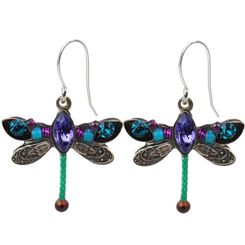Teal Petite Dragonfly Earrings 6806 - Firefly Jewelry