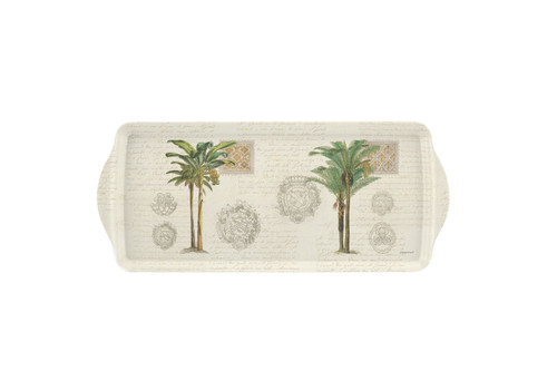 Vintage Palm Study Sandwich Tray by Pimpernel - Special Order