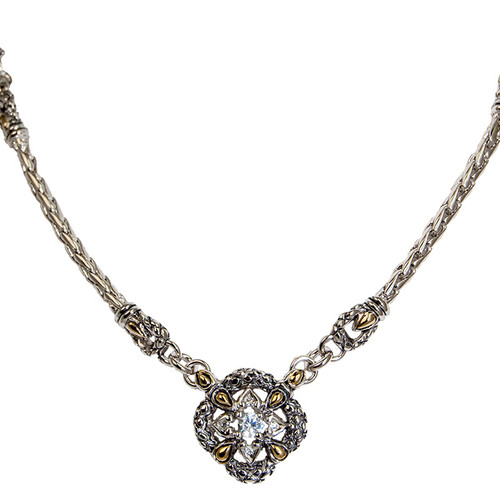 Palermo Two-Tone Accent Drop Necklace by John Medeiros - Special Order