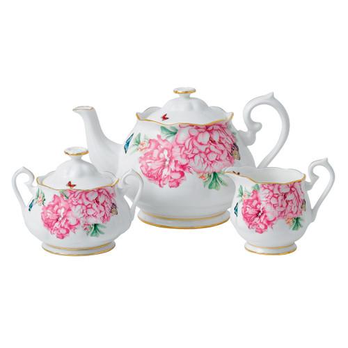 Miranda Kerr Friendship Teapot, Sugar & Creamer Set by Royal Albert - Special Order