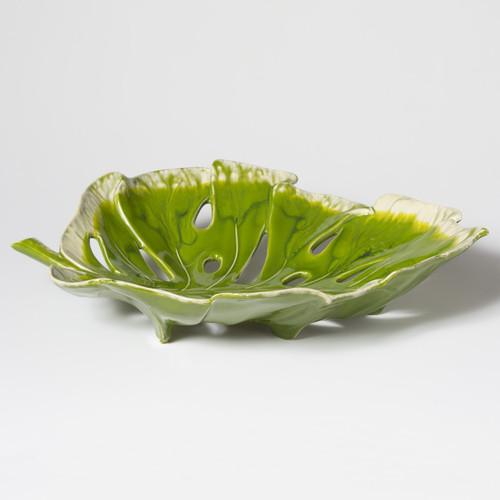 Vietri Reactive Leaves Centerpiece - Special Order