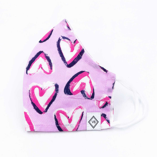 Hearts Iced Pink Cotton Face Mask by Vera Bradley