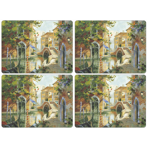 Set of 4 Venetian Scenes Placemats by Pimpernel - Special Order